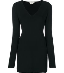 1017 alyx 9sm v-neck fitted dress - black
