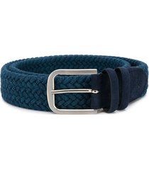 canali woven fabric belt - blue