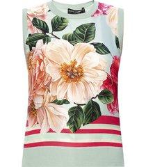 floral-bedrukte zijden top