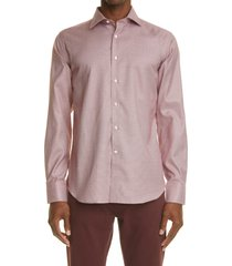 canali geometric dress shirt, size 16 in red at nordstrom