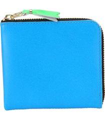 comme des garçons wallet comme des garcons wallet multicolor super fluo zipped coin wallet
