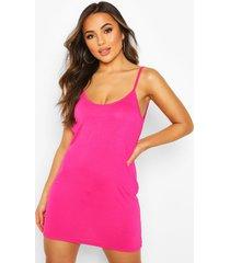 petite loshangende jurk met laag uitgesneden rug, roze