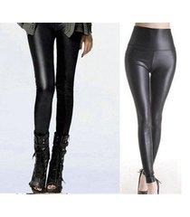 leather high waist  pants sheath leggings