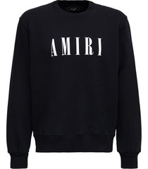 amiri jersey hoodie with logo print
