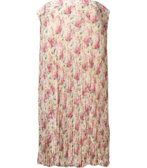 junya watanabe floral crepe long skirt - yellow