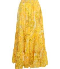 etro portofino cotton popeline printed elastic waist skirt