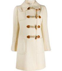 emanuel ungaro pre-owned 1960s short duffle coat - white