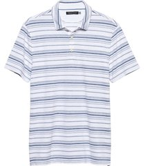 polera perf indigo stripe polo blanco banana republic