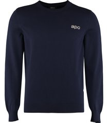 a.p.c. cotton crew-neck sweater