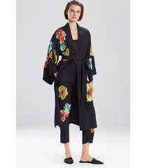 yoko sleep & lounge bath wrap robe, women's, 100% silk, size m, josie natori