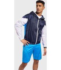 chaqueta reebok myt woven jacket azul - calce regular