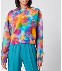 golden goose deluxe brand women's alisia boxy sweatshirt - acquamarine/golfinch/fucsia - s
