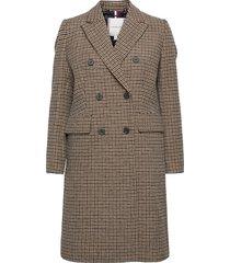 db wool blend pattern coat yllerock rock beige tommy hilfiger