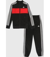 sudadera negro-rojo-blanco adidas kids