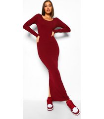 luipaardprint midi jurk met pailletten, bandjes en vierkante hals, wine