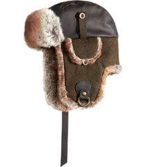 stetson men's faux-leather trooper hat, created for macy's