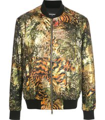 dsquared2 all-over print bomber jacket - green