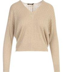 seventy lurex v neck l/s sweater