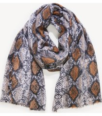 women's python blanket scarf cognac multi from sole society