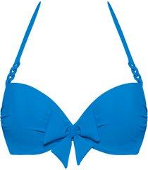papillon push up bikini top | wired padded bright blue - 32f