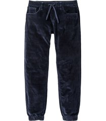 pantaloni in velluto con elastico in vita regular fit straight (blu) - rainbow