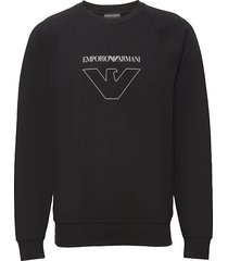 men's knit sweater sweat-shirt tröja svart emporio armani