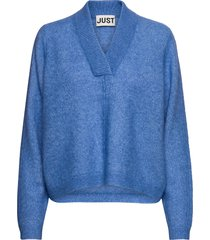 chica knit gebreide trui blauw just female