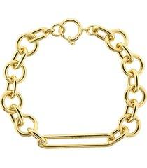 mixed oversized clip bracelet