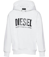 sdivision-logox over sweat-shirt hoodie trui wit diesel