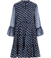 gesmokte jurk polkadot