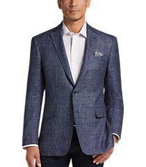 joseph abboud indigo blue modern fit sport coat blue plaid