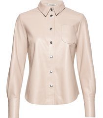 lykky shirt overhemd met lange mouwen crème marimekko