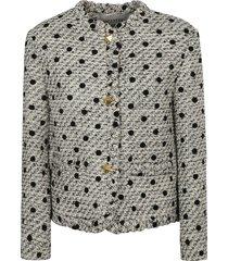 valentino fringe detail cropped jacket
