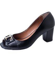 calçado torricella peep toe preto