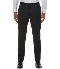 ax armani exchange men's slim-fit gray solid suit separate pants