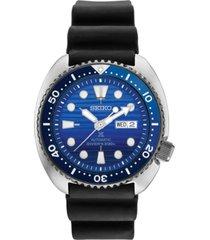 special edition seiko men's automatic prospex special edition diver black silicone strap watch 45mm