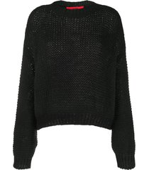 roberto collina drop-shoulder chunky sweater - black