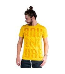 camiseta mister fish estampado adventure mostarda