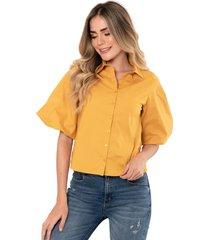 camisa marchesa amarillo ragged pf11112202