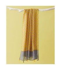 lenço estampado - lenço chelsea cor: amarelo - tamanho: único