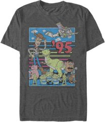 disney pixar men's toy story 95 retro distressed, short sleeve t-shirt
