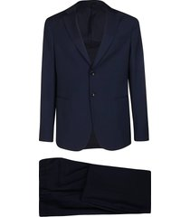 giorgio armani navy blue virgin wool two-piece suit