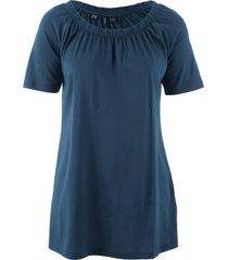 maglietta in cotone con scollo a barca elastico (blu) - bpc bonprix collection