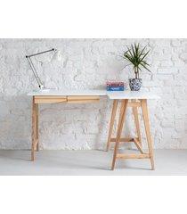 jesionowe biurko narożne luka 135cm x 85cm prawe