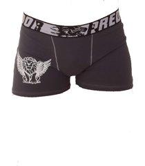 cueca vip lingerie boxer em algodã£o com estampa - cinza - cinza - menino - algodã£o - dafiti