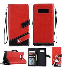 galaxy note 8 wallet,xyx red litchi pattern wallet pu leather case cover with wr
