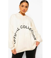 plus official collection hoodie, ecru