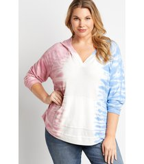 maurices plus size womens americana tie dye pullover