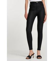 river island womens black high rise skinny coated jeans