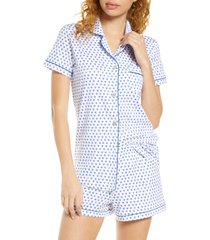 women's roller rabbit heart short pajamas, size x-large - blue